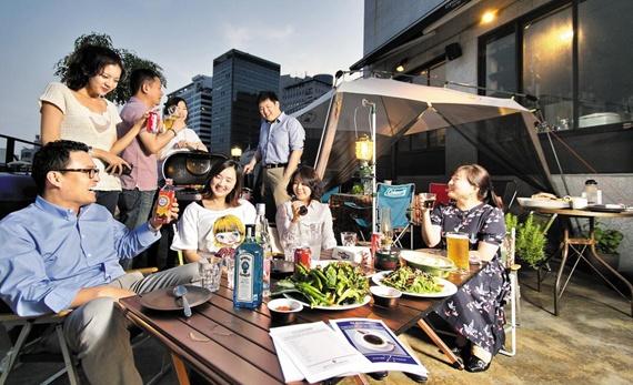 khu BBQ cho các buổi sinh hoạt gia đình và bạn bè.