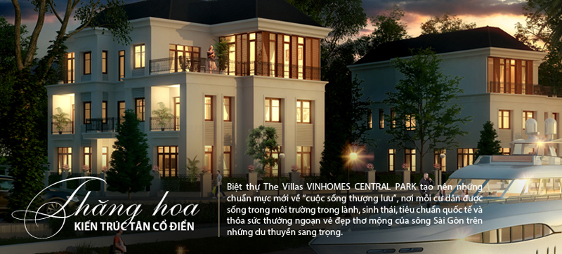 Biệt thự The Villas Vinhomes Central Park