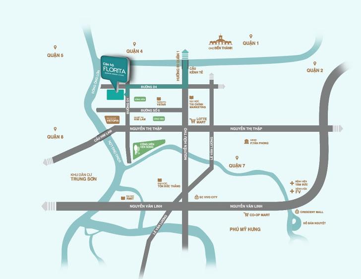 Cho thuê căn hộ chung cư Florita Quận 7
