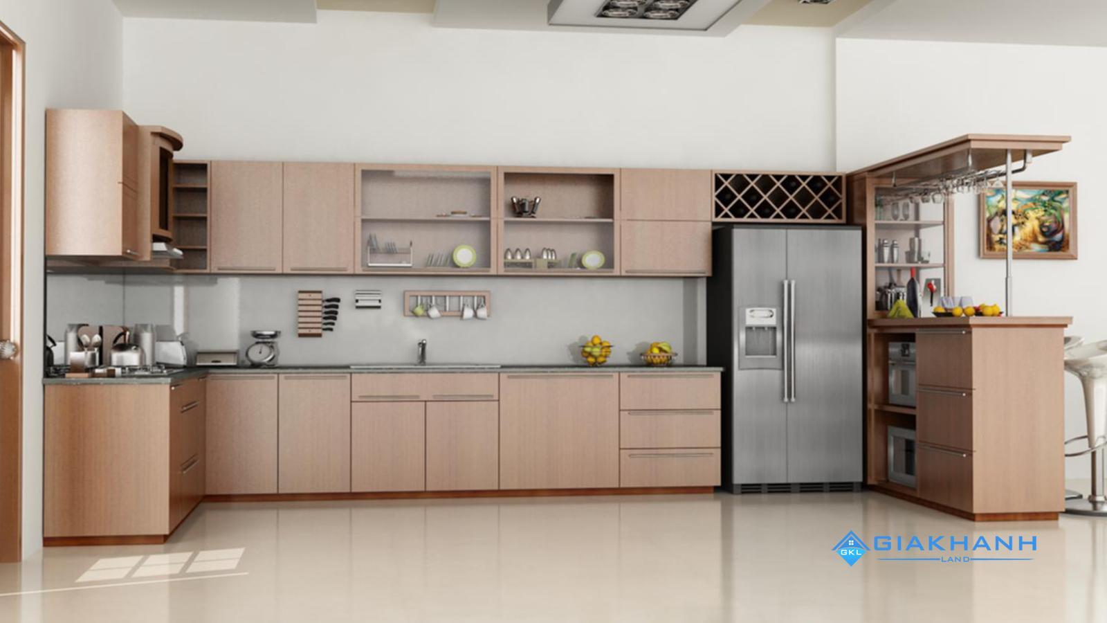 Tư vấn thiết kế tủ bếp trên của căn hộ saigonres plaza nguyễn xí