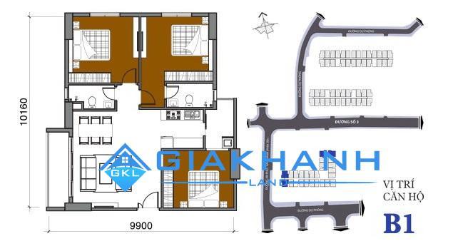 Cho thuê căn hộ chung cư Bộ Công An Quận 2