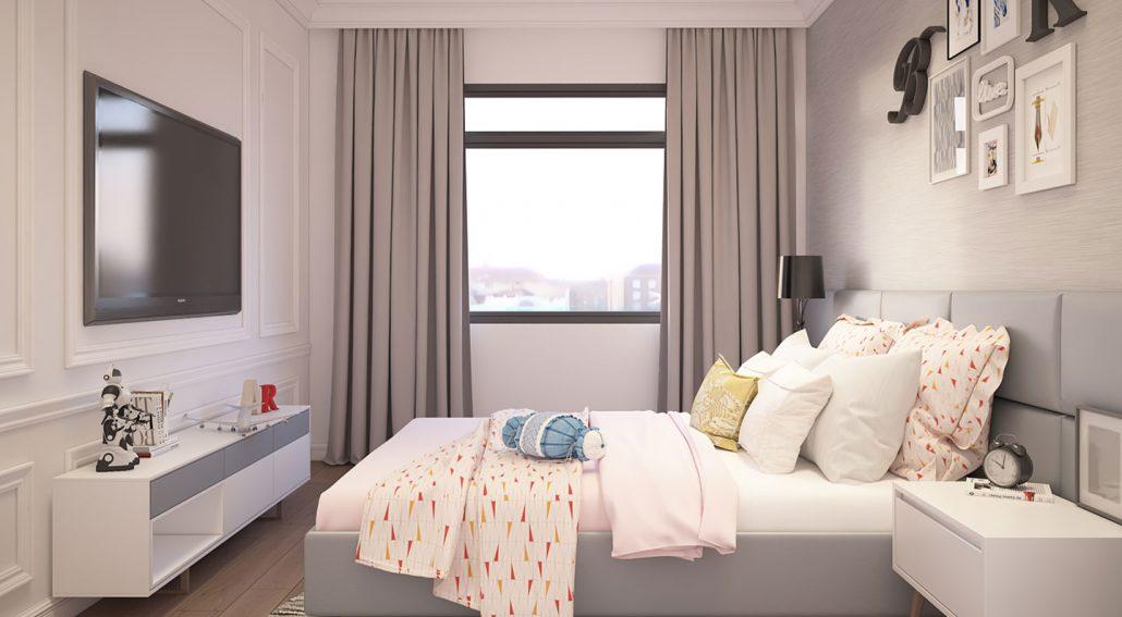 Thiết kế căn hộ 2 phòng ngủ dự án New City