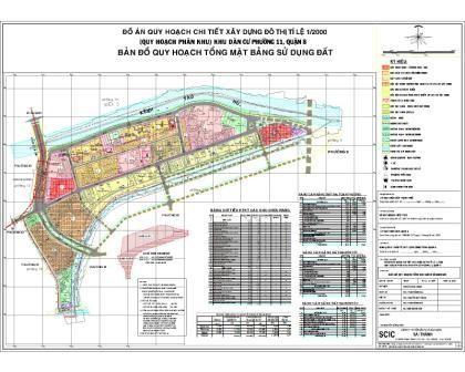 Quy hoạch chi tiết Khu dân cư Phường 11 Quận 8