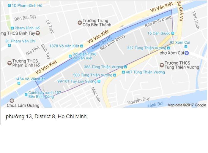 Quy hoạch chi tiết Khu dân cư Phường 13 Quận 8