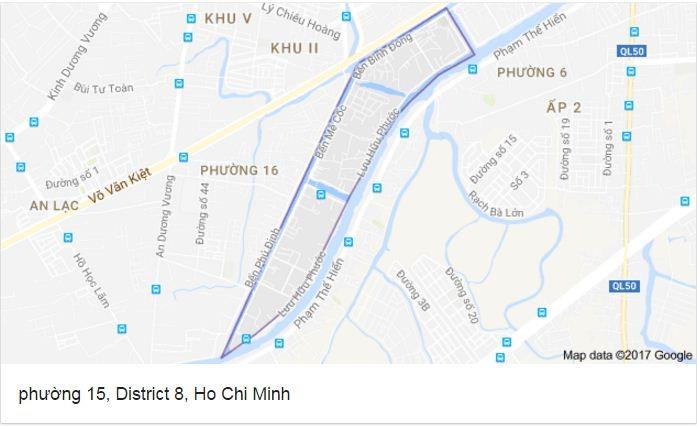 Quy hoạch chi tiết Khu dân cư Phường 15 Quận 8