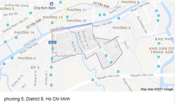 Điều chỉnh quy hoạch chi tiết Khu dân cư Phường 5 Quận 8