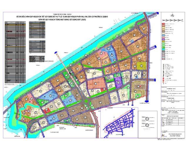 Quy hoạch chi tiết Khu dân cư Phường 6 Quận 8
