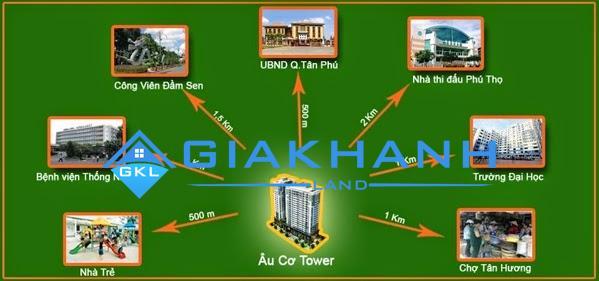 Cho thuê căn hộ chung cư Âu Cơ Tower