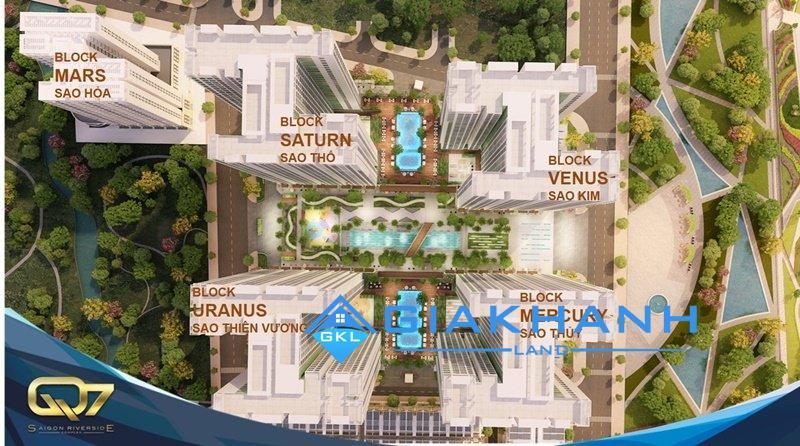 Khu căn hộ cao cấp Q7 Saigon Riverside Complex Khải Thịnh cách ly tiếng ồn sát công viên