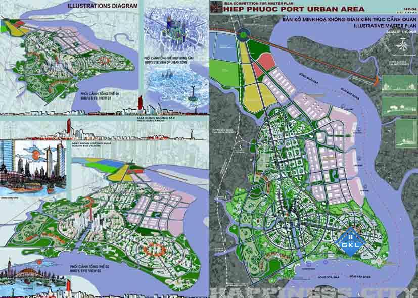 Bản Đồ Quy hoạch khu dân cư xã Hiệp Phước Nhà Bè