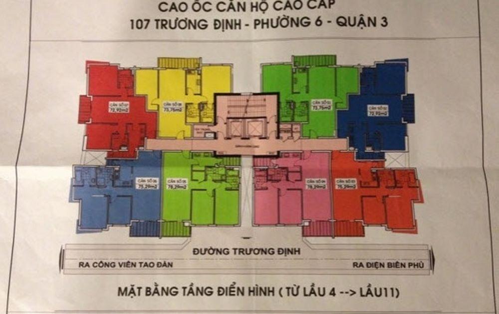Cho thuê Căn Hộ chung cư 107 Trương Định