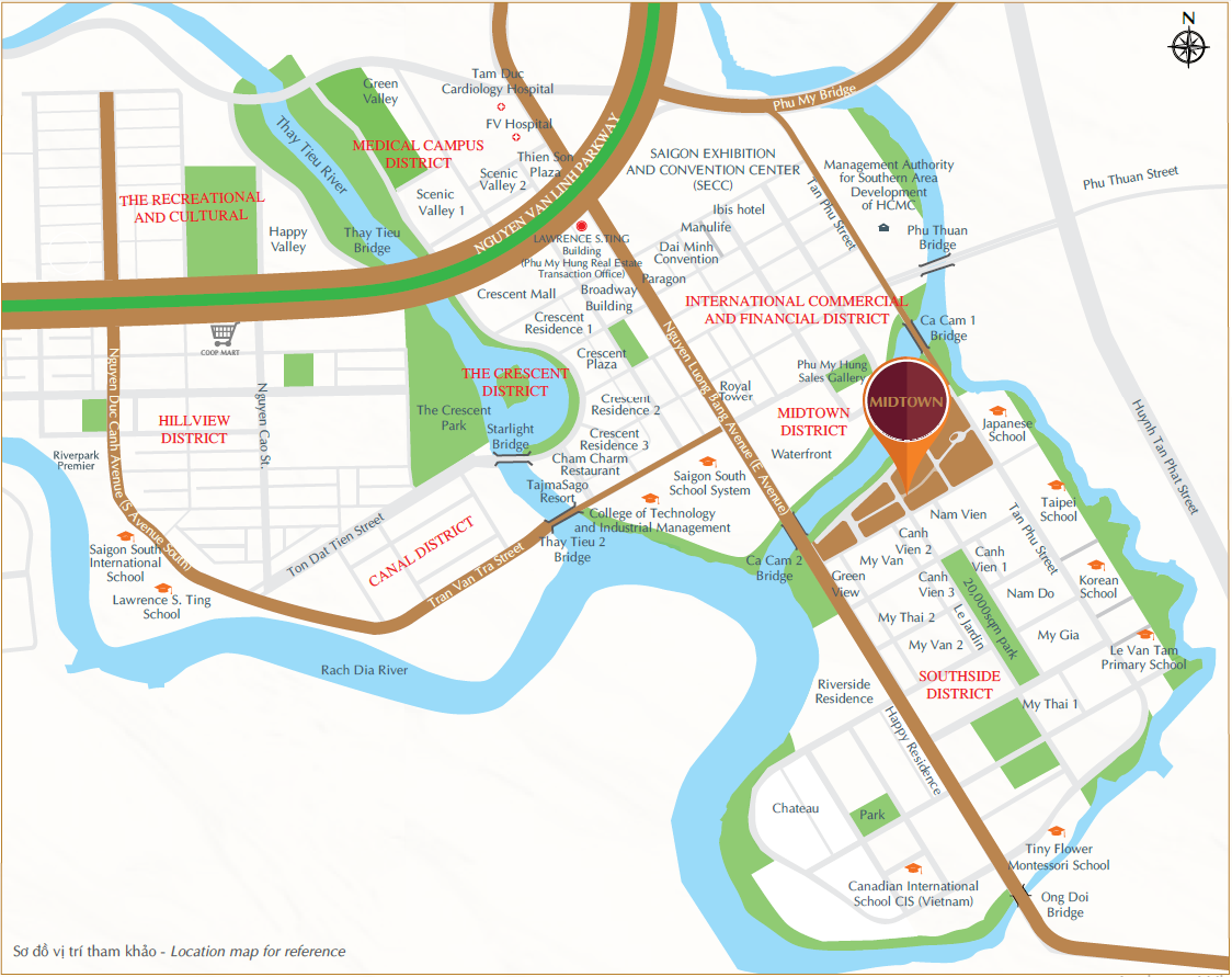 Cho thuê căn hộ chung cư Midtown Phú Mỹ Hưng