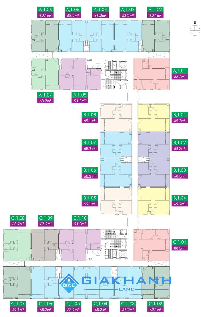 Cho thuê căn hộ chung cư ParcSpring