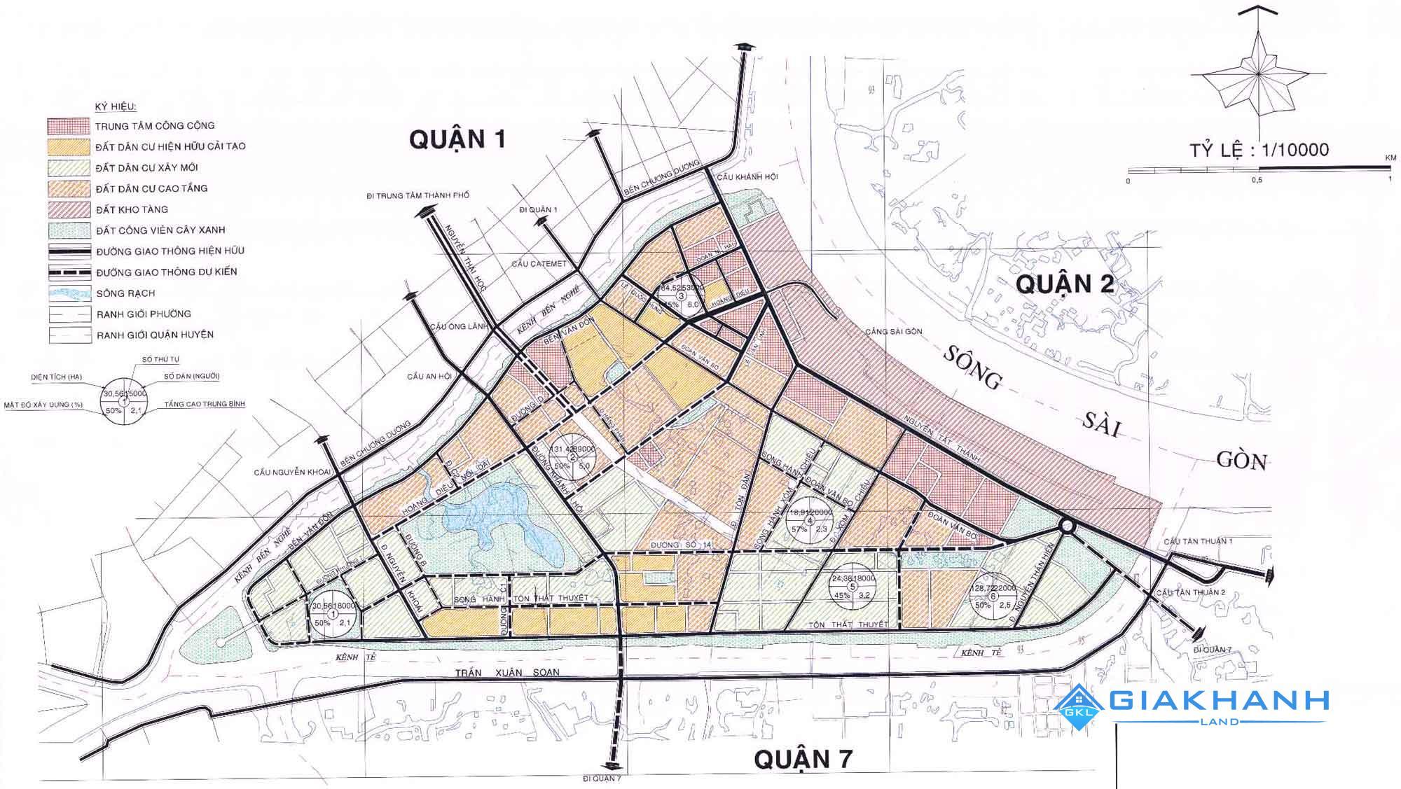 Bản đồ quy hoạch các dự án Quận 4 mới nhất