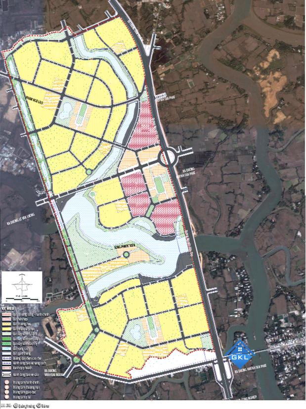 Bản đồ Quy hoạch khu dân cư xã Nhơn Đức Nhà Bè