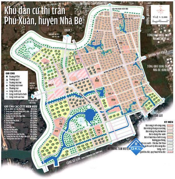 Bản đồ Quy hoạch khu dân cư xã Phú Xuân Nhà Bè