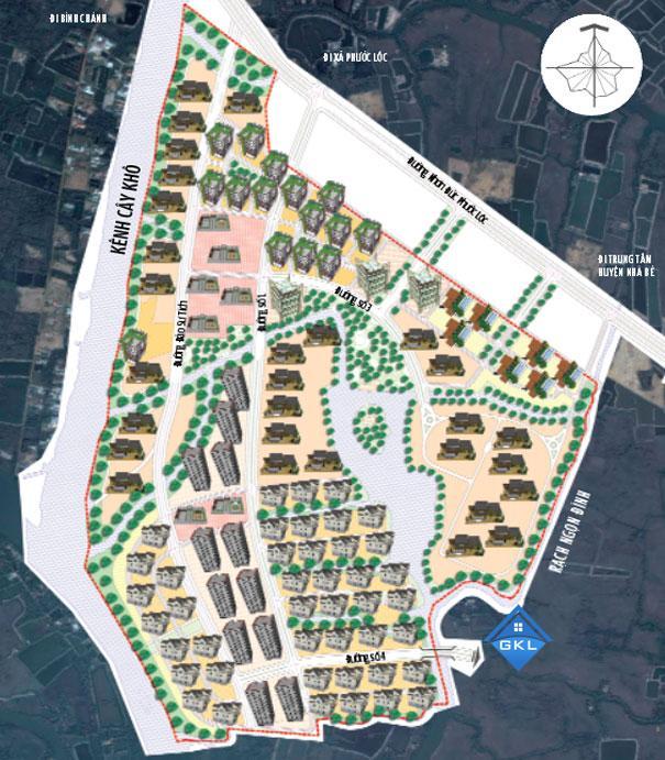 Bản Đồ Quy hoạch khu dân cư xã Phước Lộc Nhà Bè