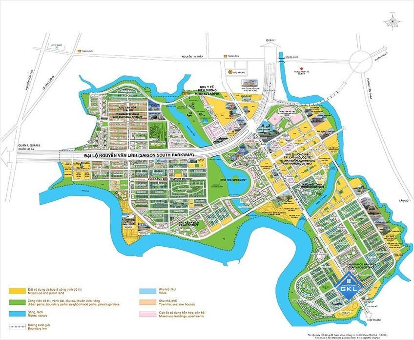 Bản đồ quy hoạch các dự án Quận 7 mới nhất và các Phường Quận 7
