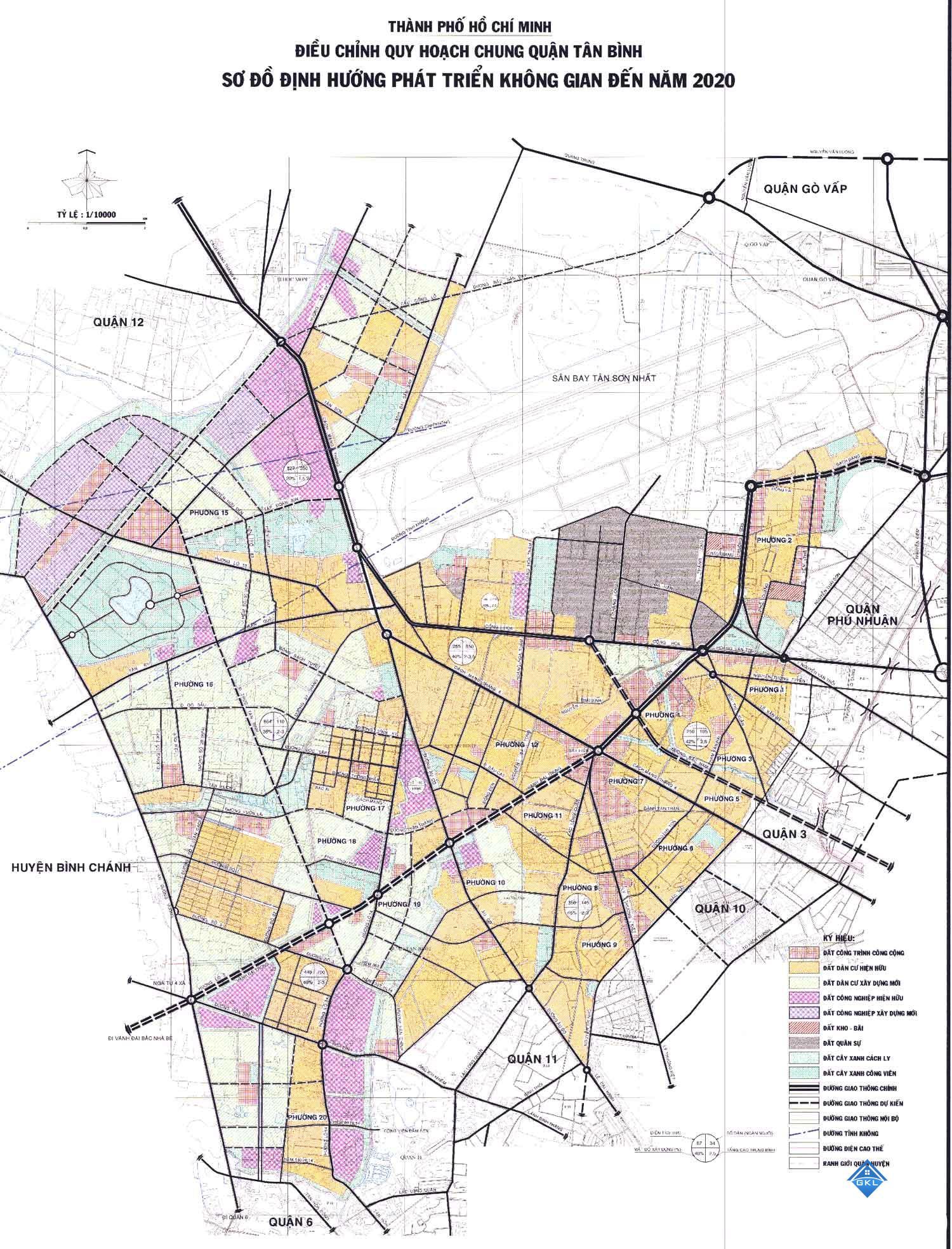 Quy hoạch chung quận Tân Bình đến năm 2020