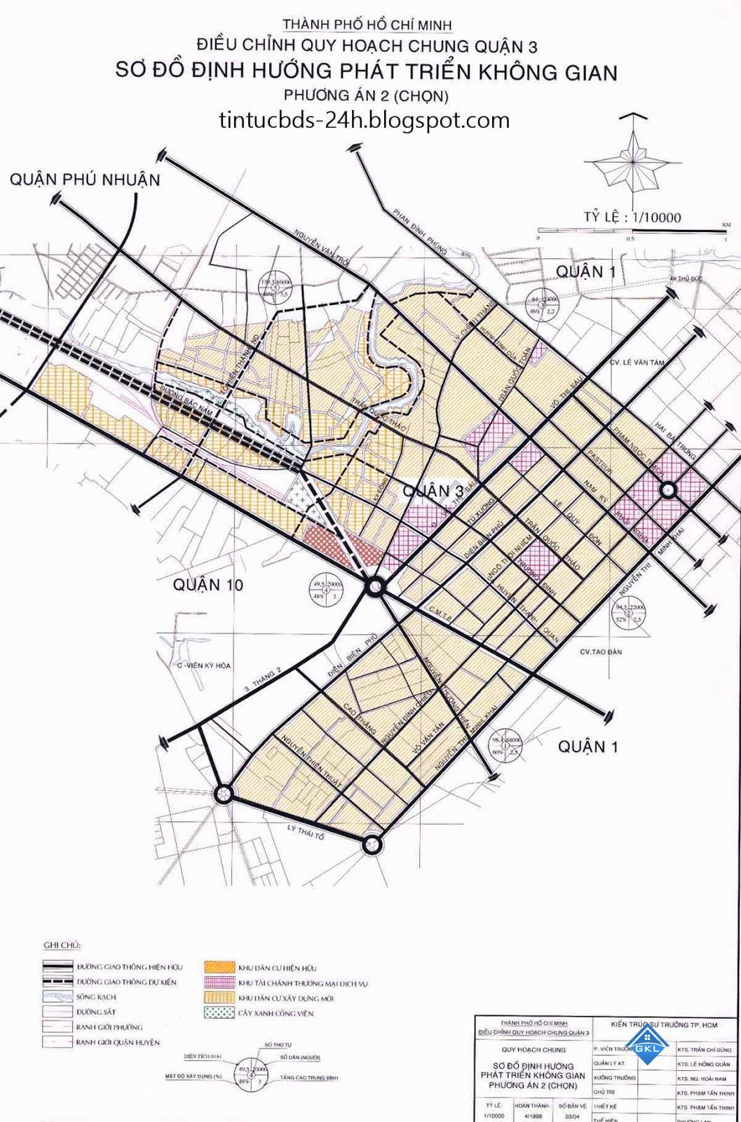 Điều chỉnh Quy hoạch chung Quận 3 đến năm 2020