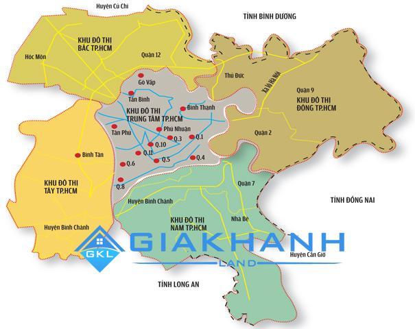 Thông tin diện tích và dân số của các quận huyện thuộc TP.HCM