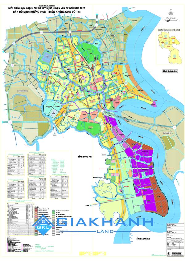 Bản đồ quy hoạch huyện Nhà Bè