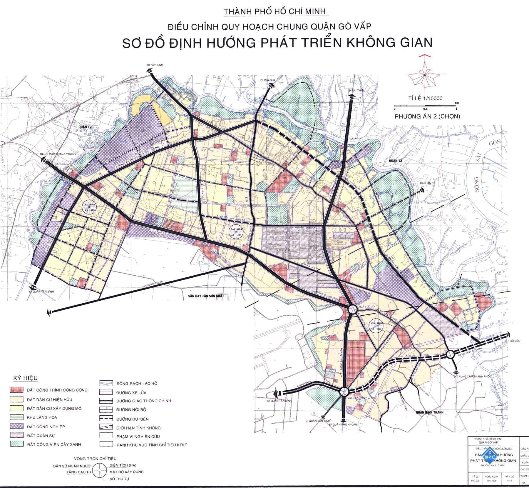 Bản đồ quy hoạch các dự án Quận Gò Vấp mới nhất và các Phường Quận Gò Vấp